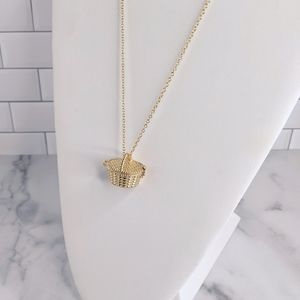 Juicy Couture gold picnic basket necklace